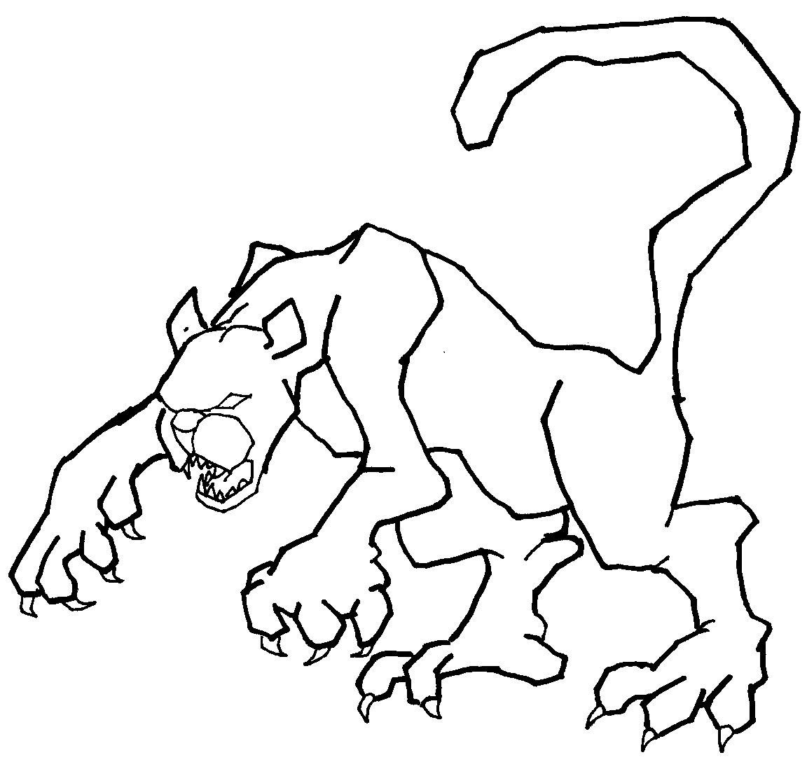 Cougar #4382 (Animals) - Printable coloring pages