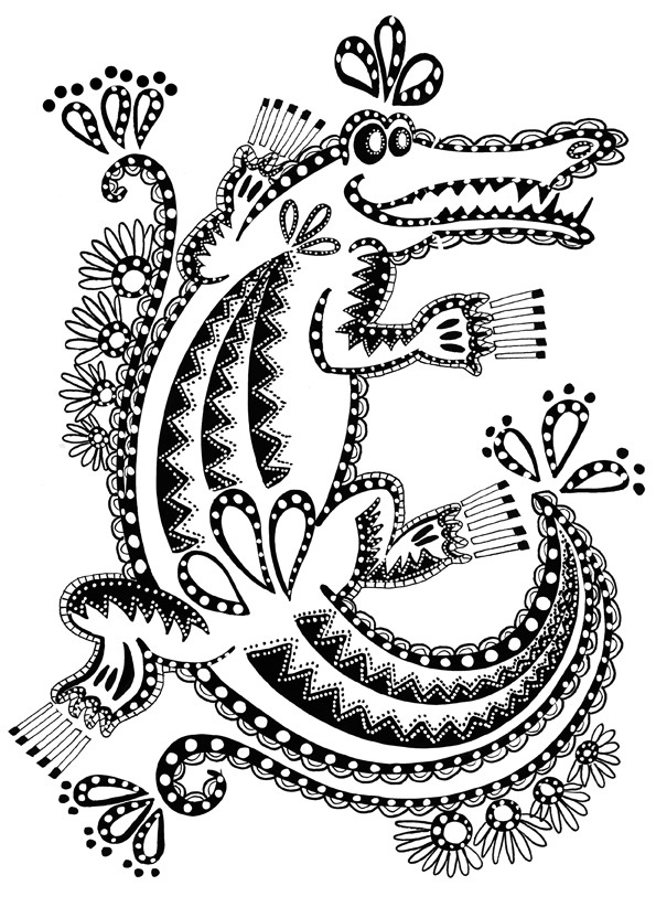 Crocodile #4865 (Animals) - Printable coloring pages
