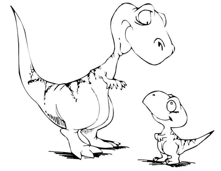 Dinosaur 5589 Animals Printable Coloring Pages