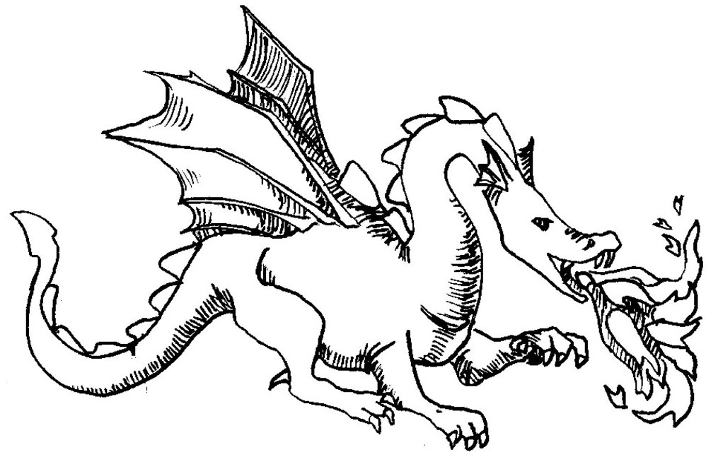 Dragon 5787 Animals Printable Coloring Pages