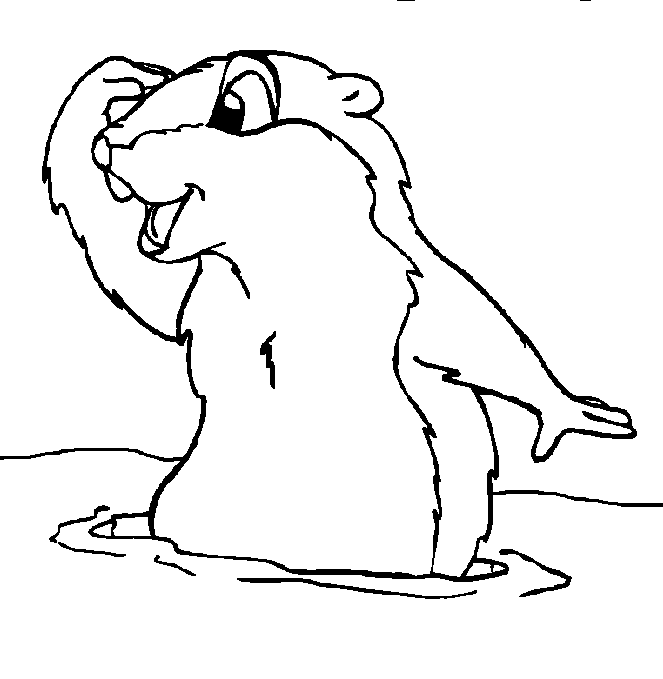Groundhog 10896 Animals Printable Coloring Pages
