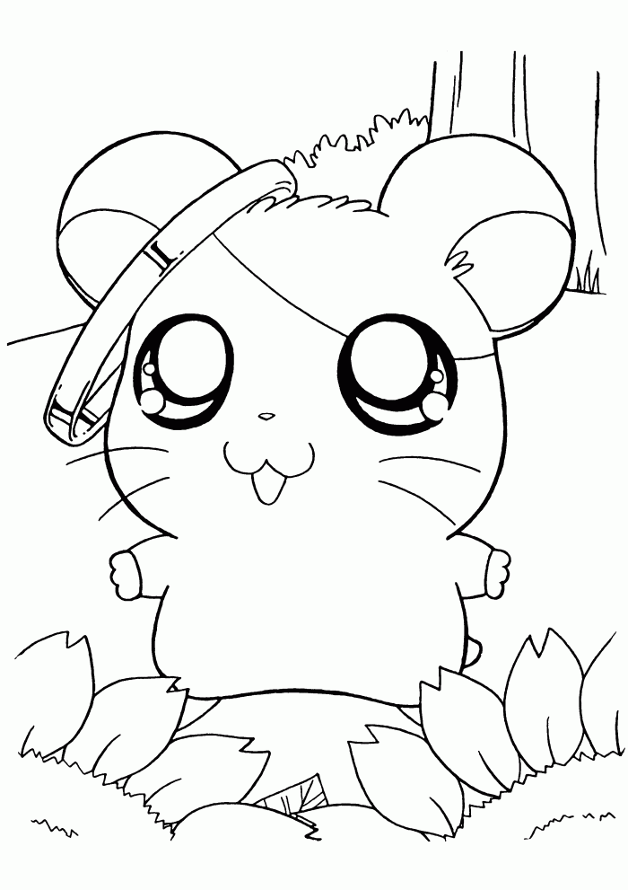 Hamster 8071 Animals Printable Coloring Pages