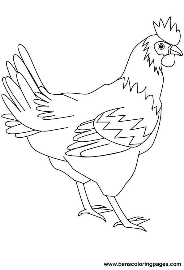 - Hen #17446 (Animals) – Printable Coloring Pages