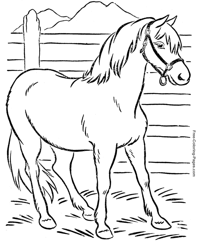 Horse #2197 (Animals) – Printable Coloring Pages