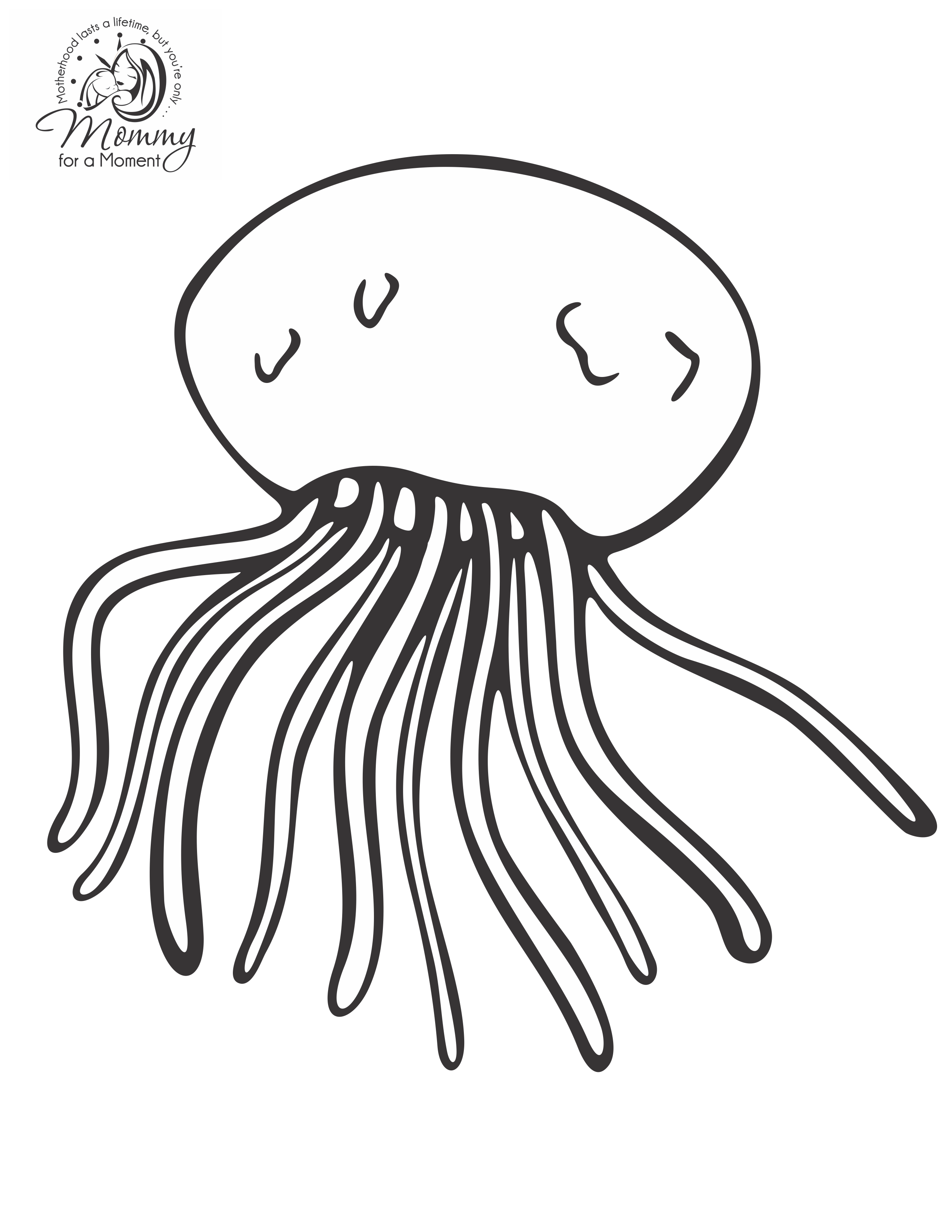Jellyfish 20568 Animals Printable Coloring Pages