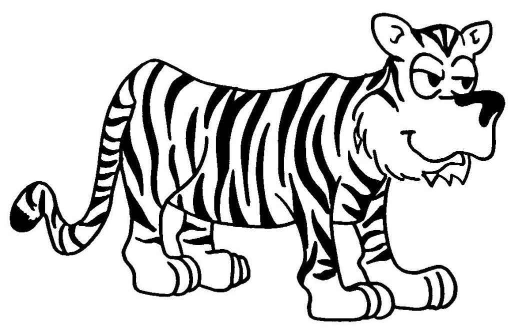 tiger 13725 animals  printable coloring pages