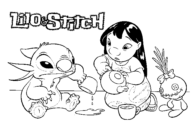 Lilo Stitch Animation Movies Printable Coloring Pages