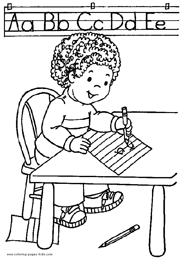 Classroom Coloring Pages For Kids - This expansive ...