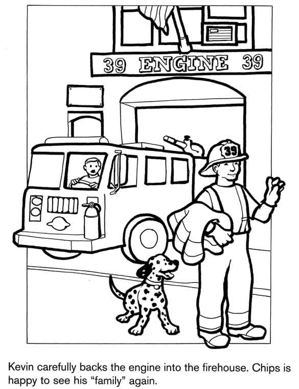 - Fire Station #68484 (Buildings And Architecture) – Printable Coloring Pages