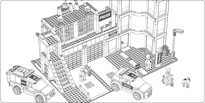 - Police Station (Buildings And Architecture) – Printable Coloring Pages