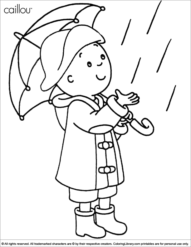 Caillou 36219 Cartoons Printable Coloring Pages