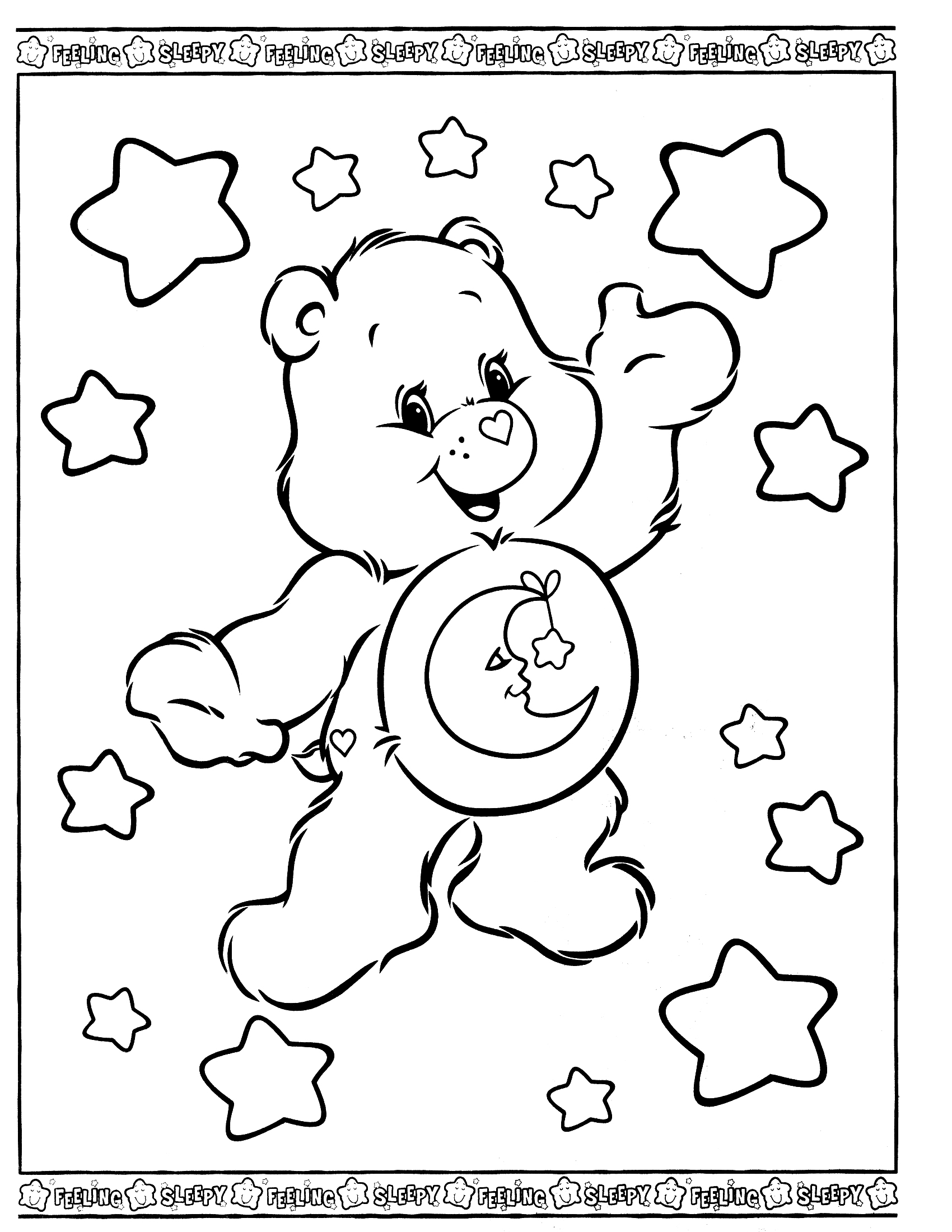 Care Bears Cartoons Printable Coloring Pages