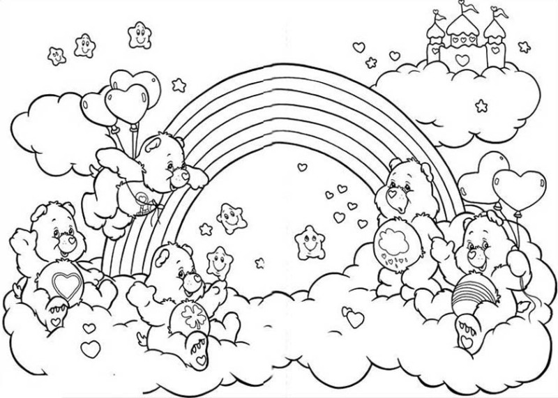 - Care Bears (Cartoons) – Printable Coloring Pages