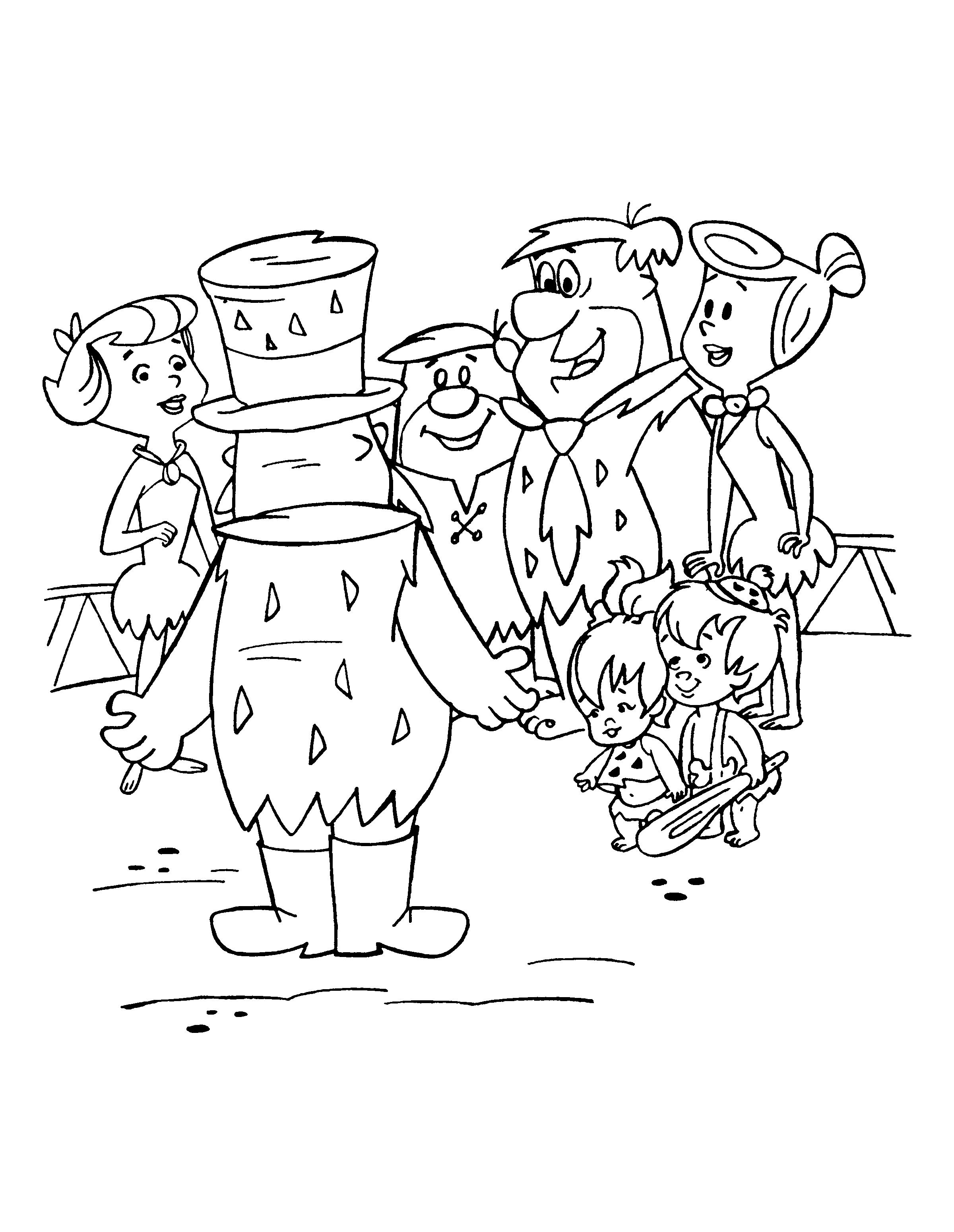 Flintstones 29556 Cartoons Printable Coloring Pages