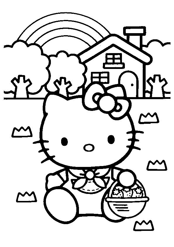 Hello Kitty 36741 Cartoons Printable Coloring Pages