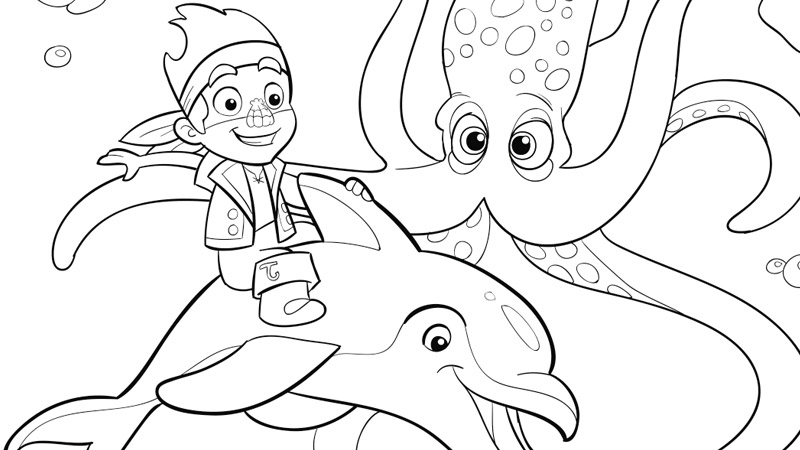 Jake And The Never Land Pirates 42488 Cartoons Printable Coloring Pages