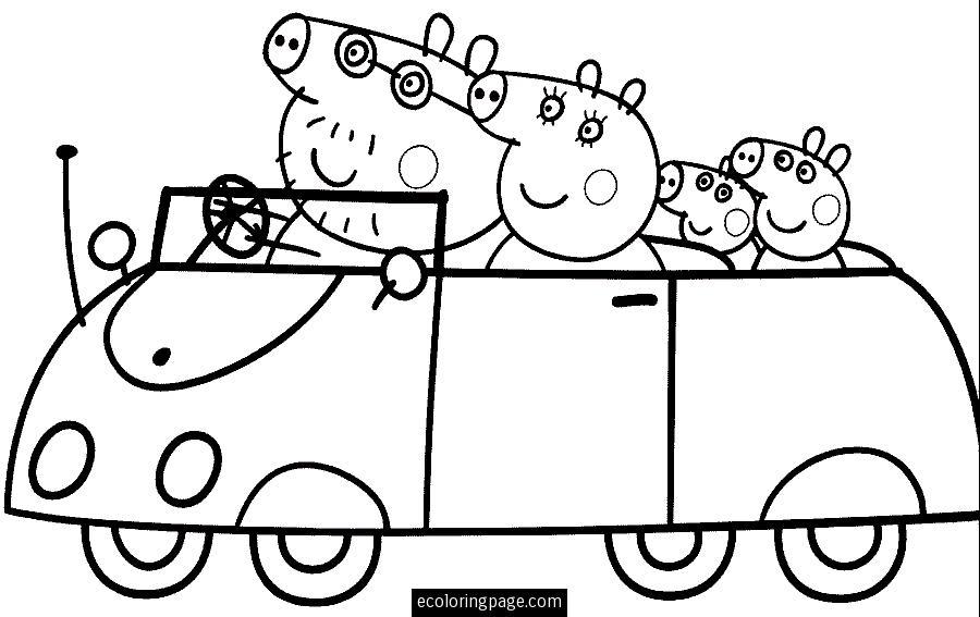 Peppa Pig 43913 Cartoons Printable Coloring Pages