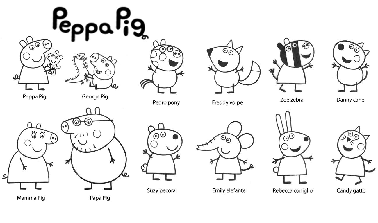 Peppa Pig Cartoons Printable Coloring Pages