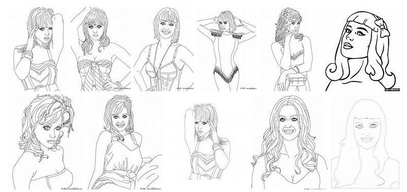 Katy Perry 123329 Celebrities Printable Coloring Pages