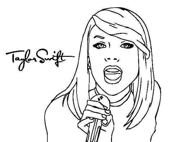 - Taylor Swift #123848 (Celebrities) – Printable Coloring Pages