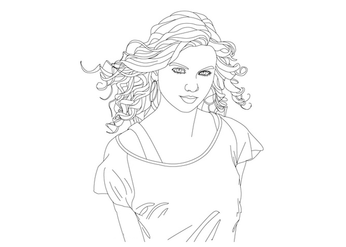 - Taylor Swift #123849 (Celebrities) – Printable Coloring Pages