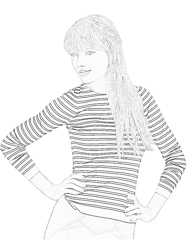 - Taylor Swift #123867 (Celebrities) – Printable Coloring Pages
