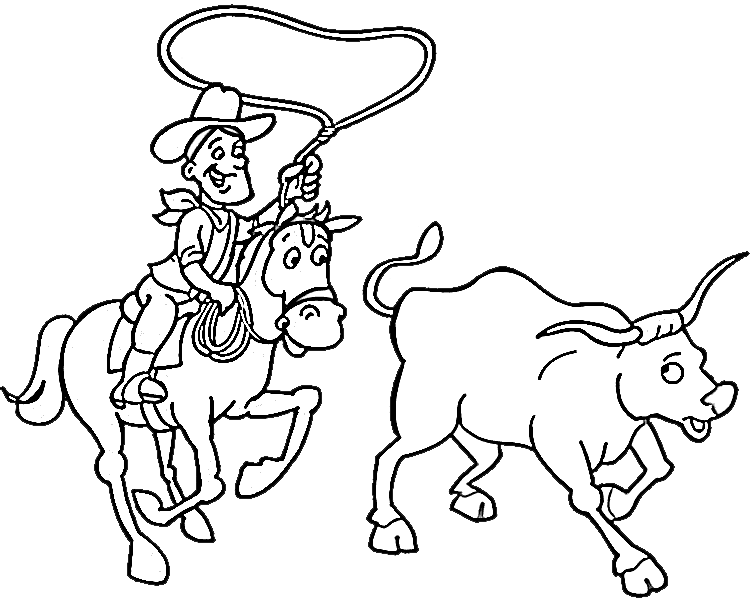 Cowboy #91432 (Characters) – Printable Coloring Pages
