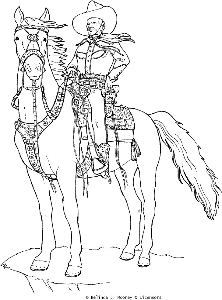 - Cowboy #91501 (Characters) – Printable Coloring Pages