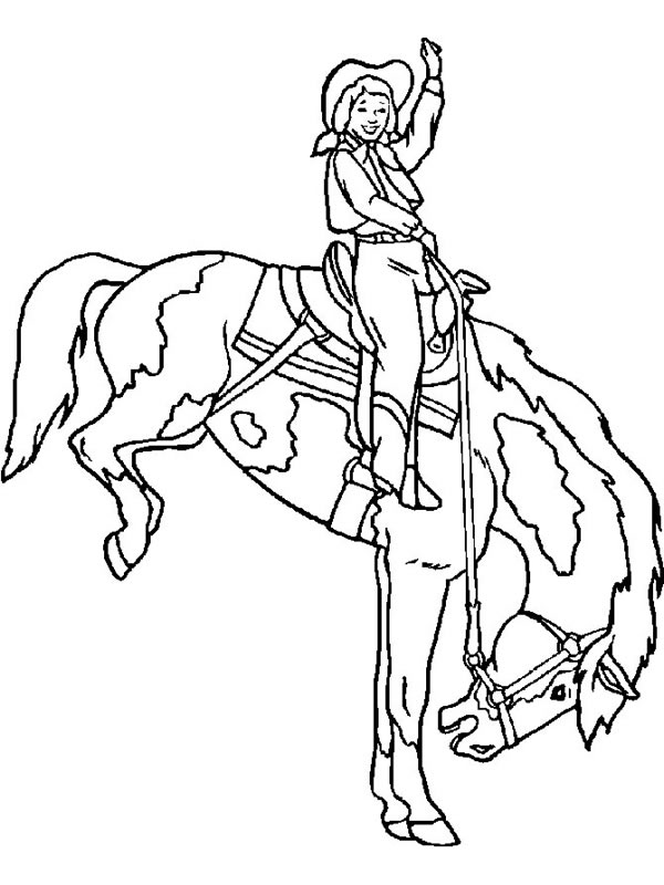 Cowboy 91582 Characters Printable Coloring Pages