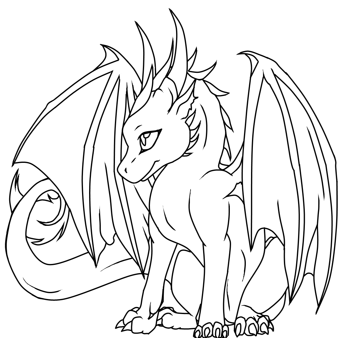 Dragon 148380 Characters Printable Coloring Pages