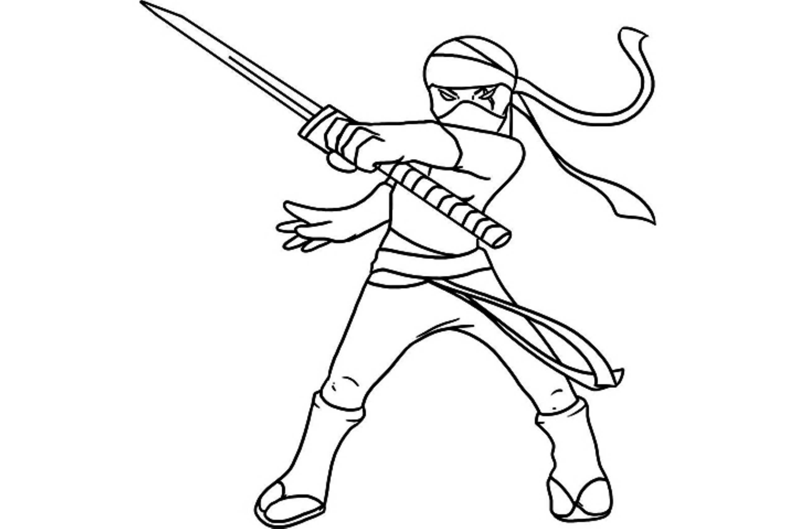 Ninja Characters Printable Coloring Pages