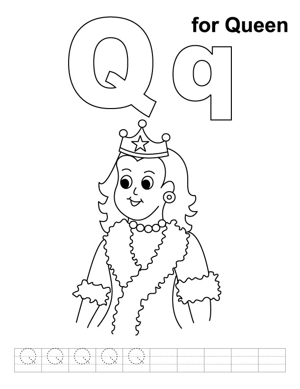 Queen 106215 Characters Printable Coloring Pages