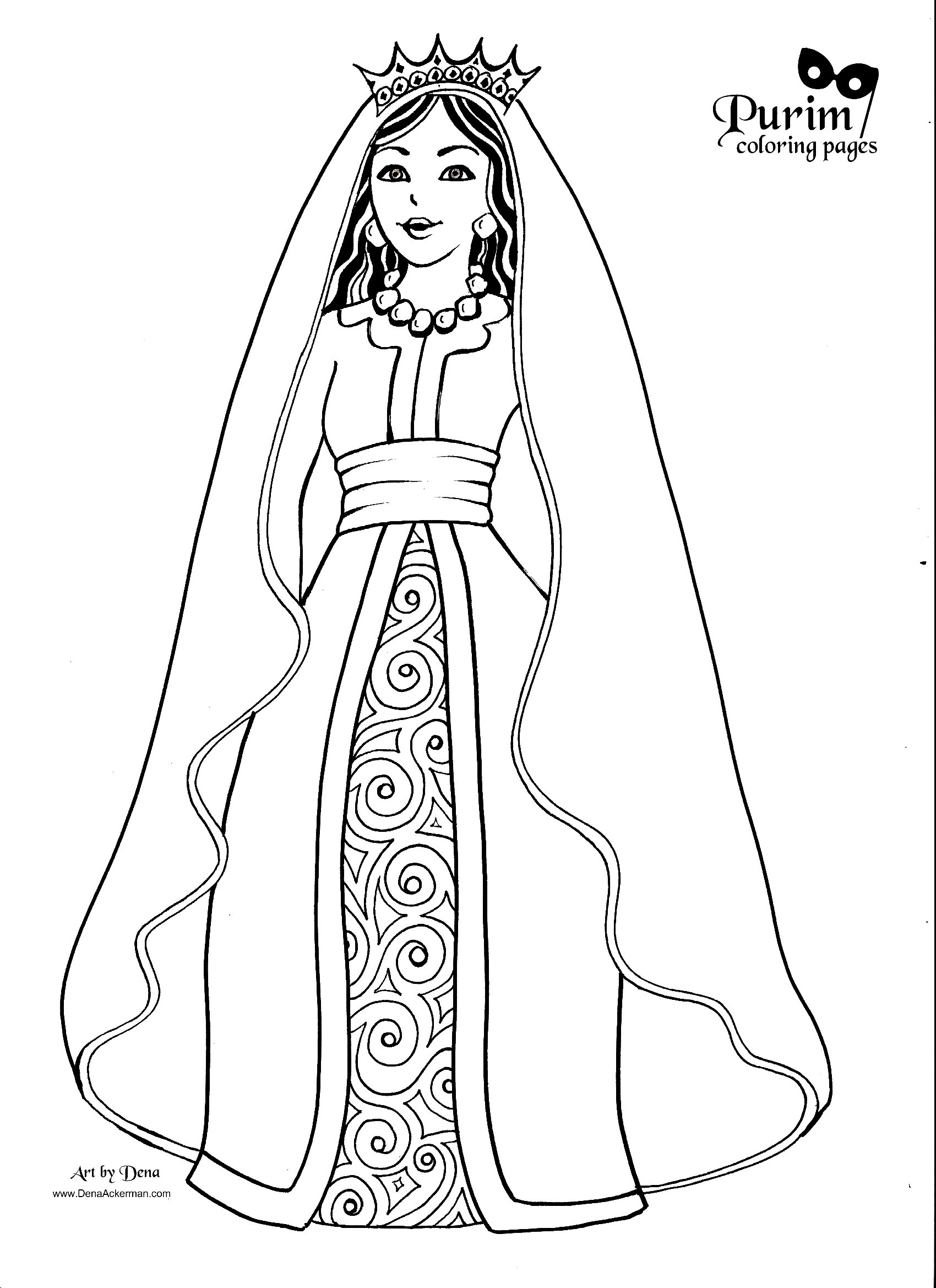 Queen 106228 Characters Printable Coloring Pages