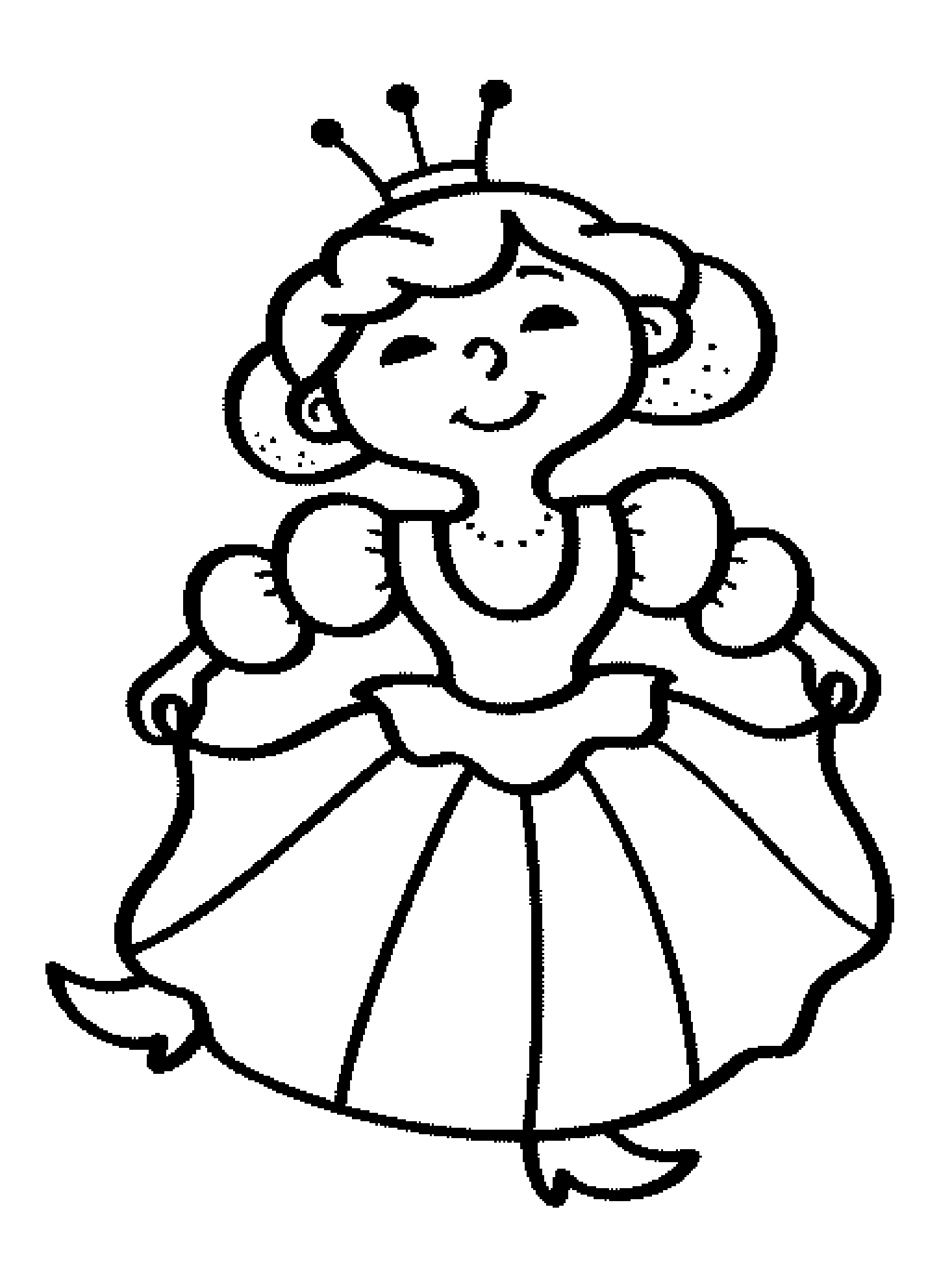 Queen 106320 Characters Printable Coloring Pages