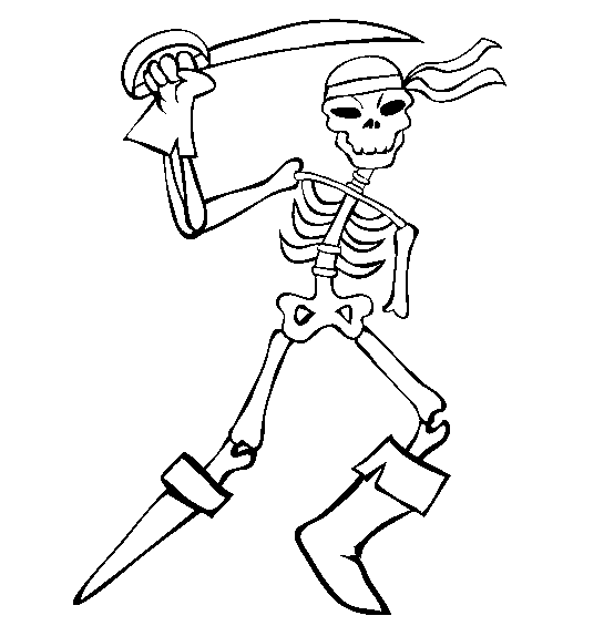 Skeleton #147420 (Characters) – Printable Coloring Pages
