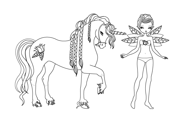 unicorn 19536 characters  printable coloring pages