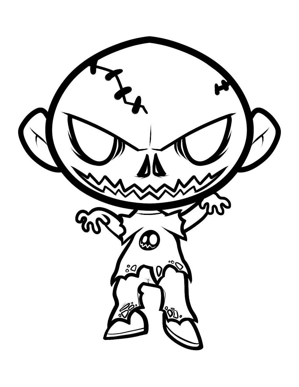 Dessin Halloween Zombie.Zombie 85544 Characters Printable Coloring Pages