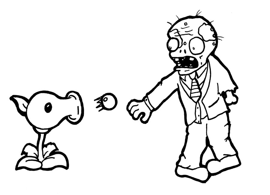 Zombie #34 (Characters) - Printable coloring pages