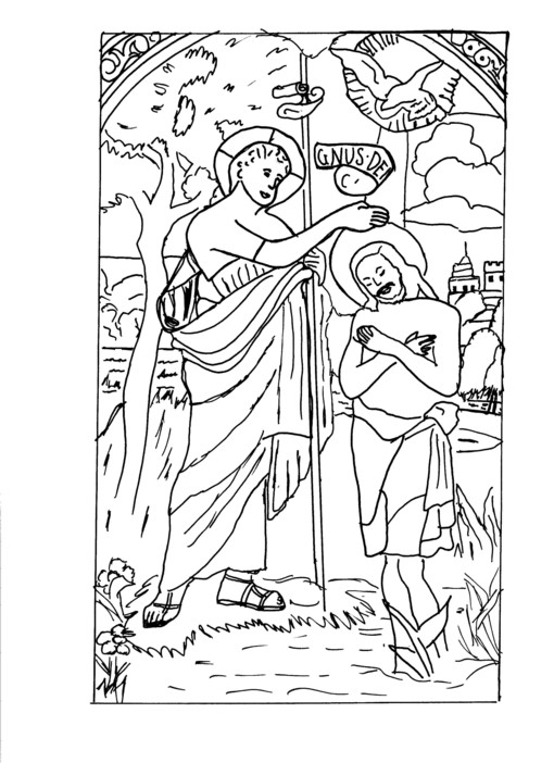 Baptism 57483 Holidays And Special Occasions Printable Coloring Pages