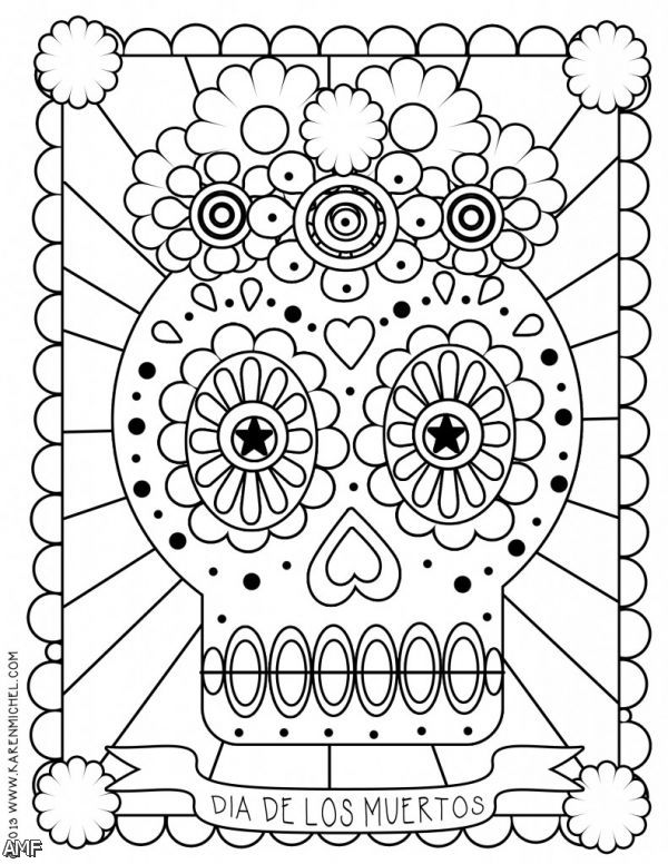 - Day Of The Dead #60143 (Holidays And Special Occasions) – Printable  Coloring Pages