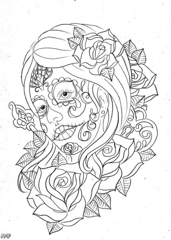 Day Of The Dead #60146 (Holidays And Special Occasions) – Printable  Coloring Pages