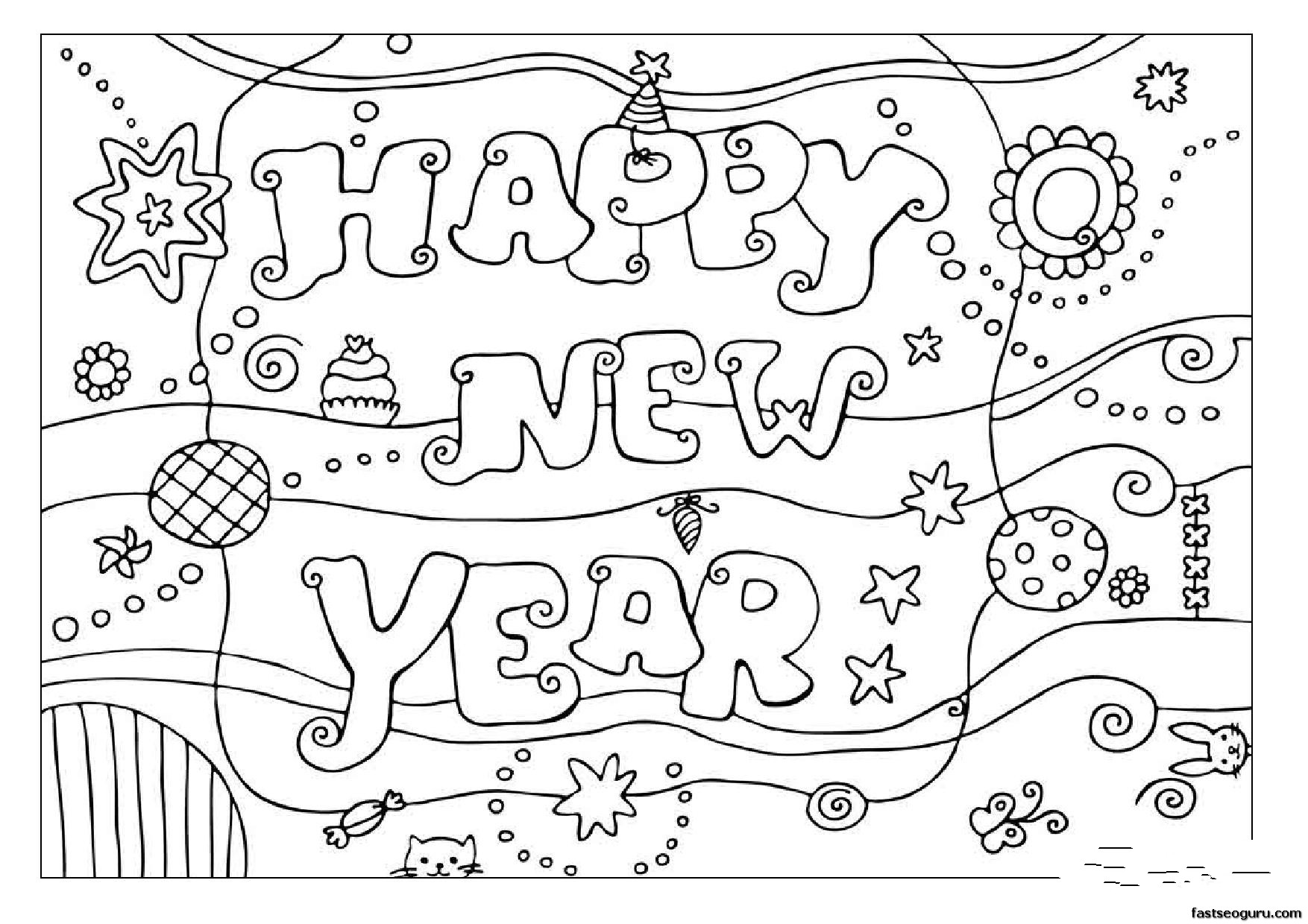 New Year 60792 Holidays And Special Occasions Printable Coloring Pages