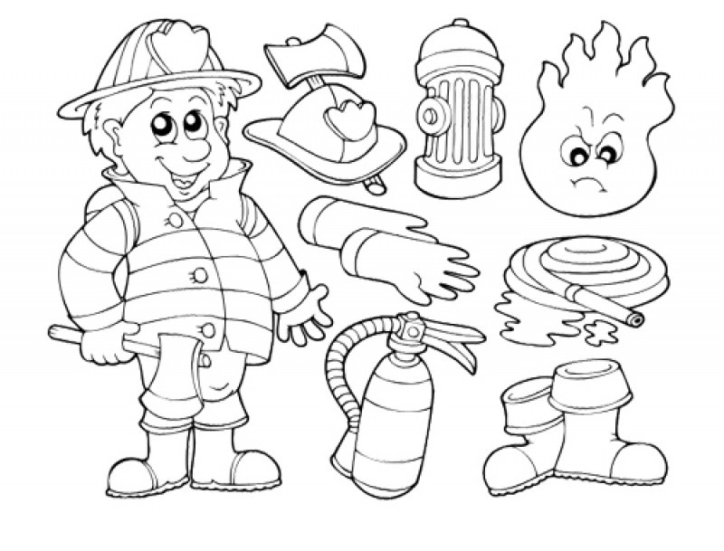 Firefighter 105580 Jobs Printable Coloring Pages