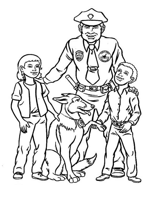 - Police Officer #105411 (Jobs) – Printable Coloring Pages