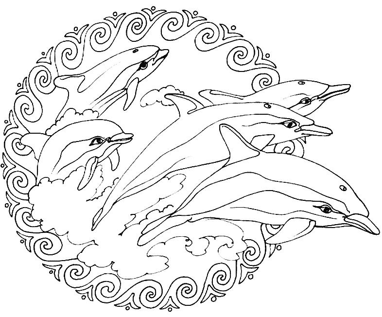 Animals Mandalas (Mandalas) – Printable Coloring Pages