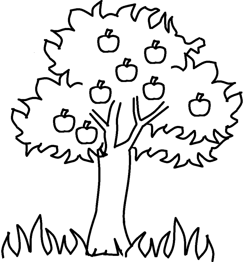 Apple Tree #163738 (Nature) – Printable Coloring Pages