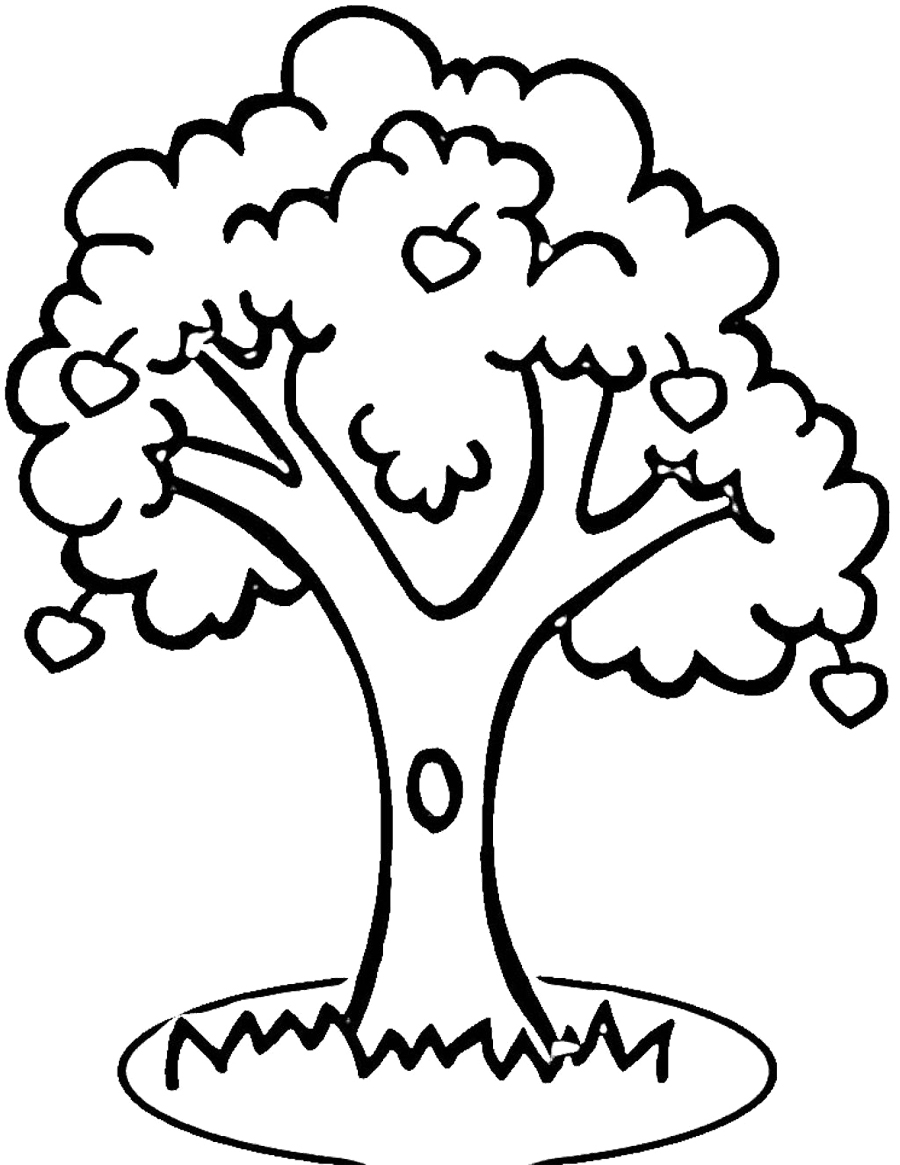 Apple Tree Nature Printable Coloring Pages