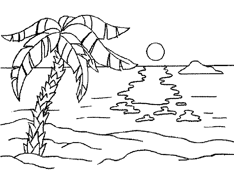- Beach #158980 (Nature) – Printable Coloring Pages