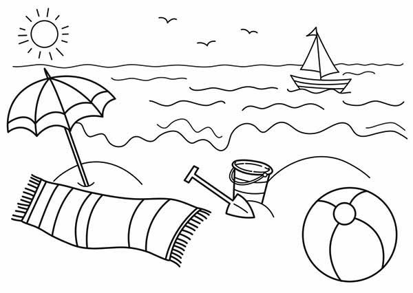 - Beach #159019 (Nature) – Printable Coloring Pages