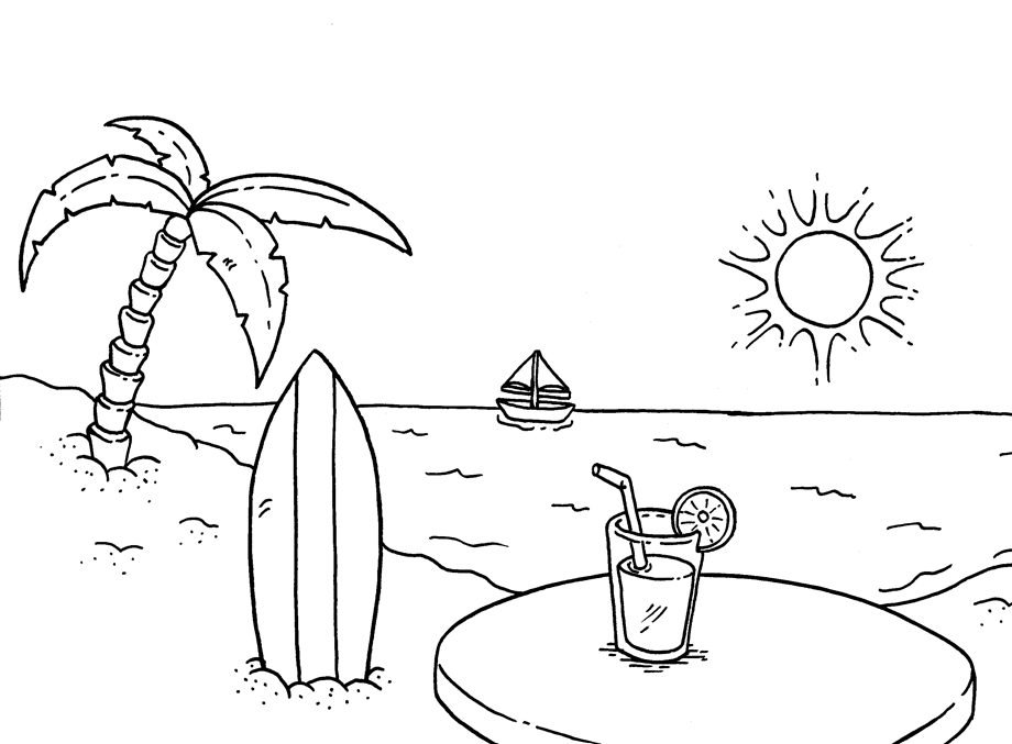 Beach #159116 (Nature) – Printable Coloring Pages